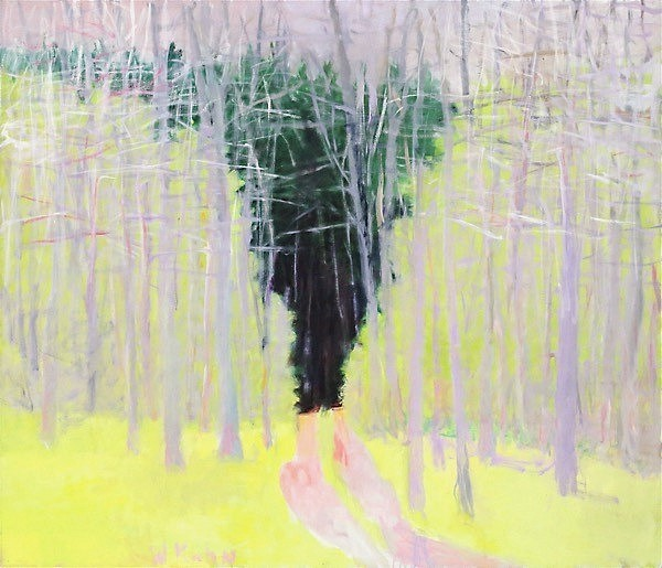 Wolf Kahn ,   Path Through Undergrowth  ,  2002     oil on canvas ,  52 x 60 in. (132.1 x 152.4 cm)     MMG#11893