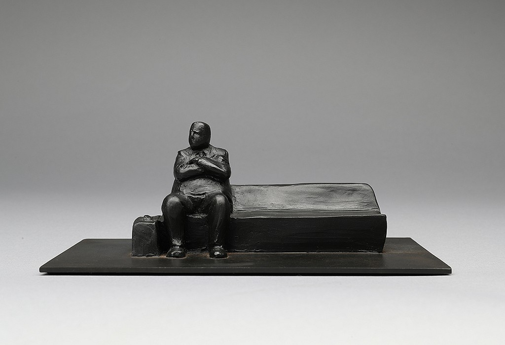 Jim Rennert ,   Commute, Edition of 9  ,  2010     bronze and steel ,  2 1/2 x 8 x 3 5/8 in. (6.3 x 20.3 x 9.2 cm)