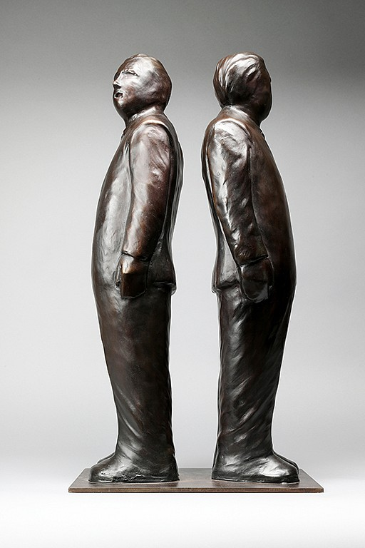 Jim Rennert ,   Decisions Decisions, Edition of 9  ,  2013     bronze and steel ,  26 1/2 x 14 x 9 in. (67.3 x 35.6 x 22.9 cm)     JREM140501