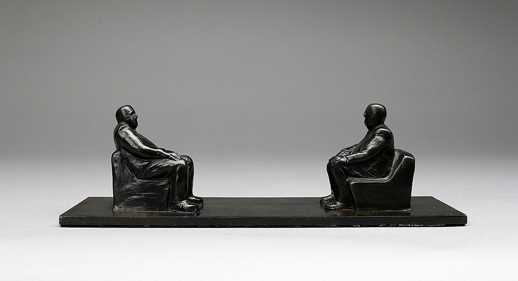 Jim Rennert, Face to Face, Edition of 9 2010, bronze and steel