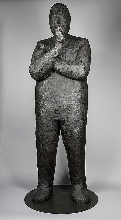 Jim Rennert ,   Listen, Edition of 3  ,  2017     bronze ,  77 3/4 x 36 x 36 in. (197.5 x 91.4 x 91.4 cm)     JR1707005