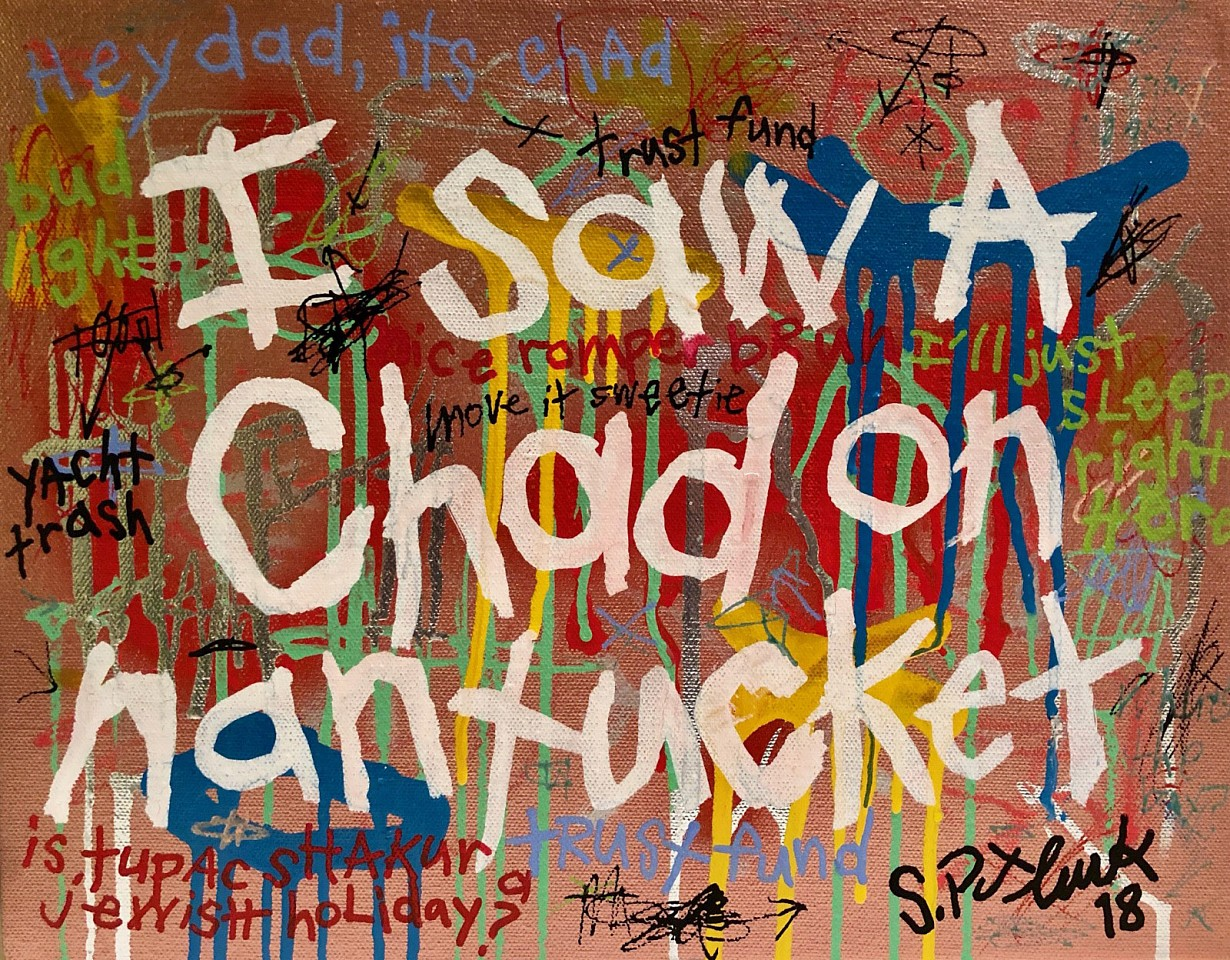 Stephen Pitliuk ,   I Saw a Chad on Nantucket  ,  2018     mixed media ,  11 x 14 in. (27.9 x 35.6 cm)     SP1807001