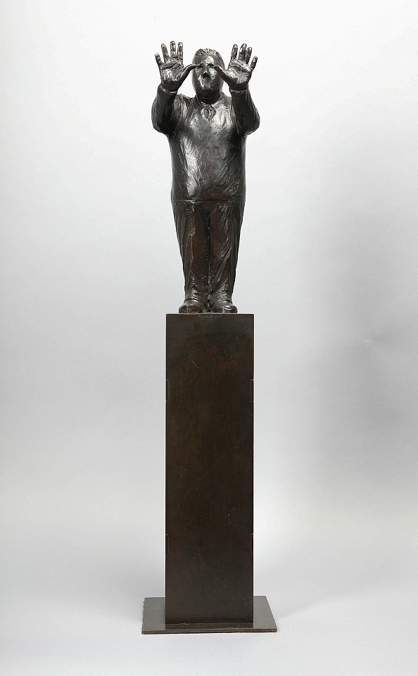 Jim Rennert ,   Big Picture, Edition of 9  ,  2013     bronze and steel ,  26 x 6 x 6 in. (66 x 15.2 x 15.2 cm)