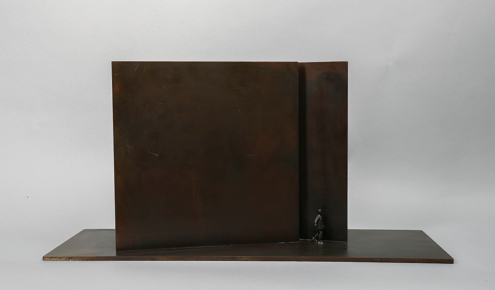 Jim Rennert ,   Breakthrough, Edition of 7  ,  2007     bronze and steel ,  12 x 25 x 8 in. (30.5 x 63.5 x 20.3 cm)     JR031207