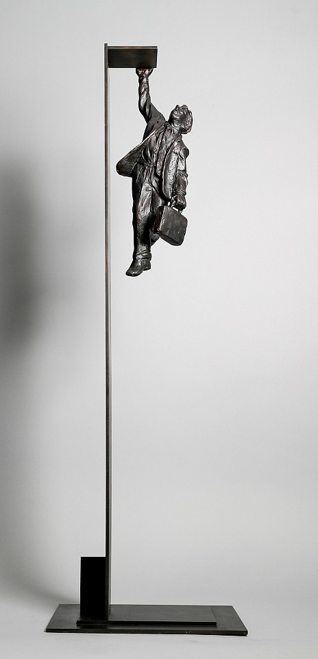 Jim Rennert ,   High Risk, Edition of 45  ,  2008     bronze and steel ,  44 x 11 x 6 in. (111.8 x 27.9 x 15.2 cm)     JR041108