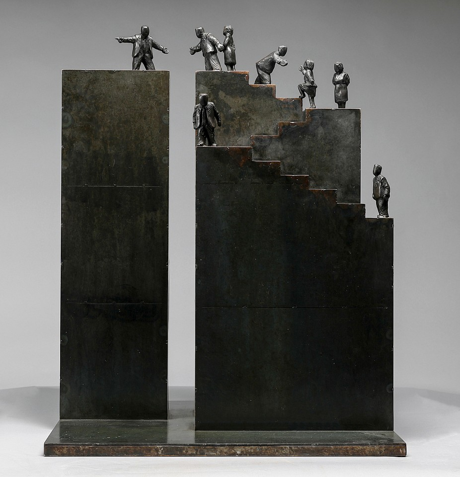 Jim Rennert ,   Next Generation, maquette, Edition of 3, 2012      bronze and steel ,  30 x 26 x 12 in. (76.2 x 66 x 30.5 cm)     JR130402
