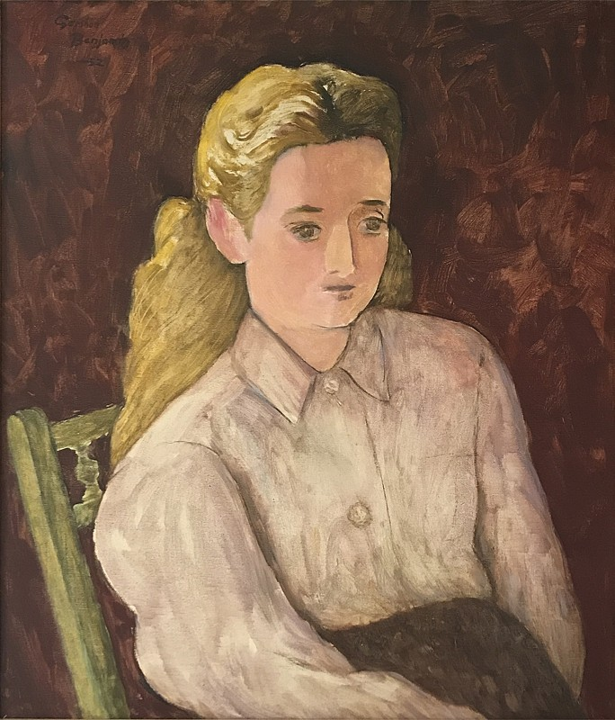 Gershon Benjamin, Blonde Girl 1952, oil on canvas