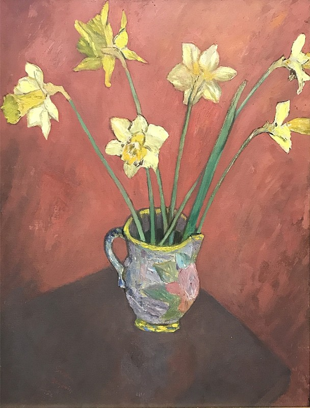 Gershon Benjamin ,   Daffodils #2  ,  1952     oil on canvas board ,  24 x 18 in. (61 x 45.7 cm)     GB1803022