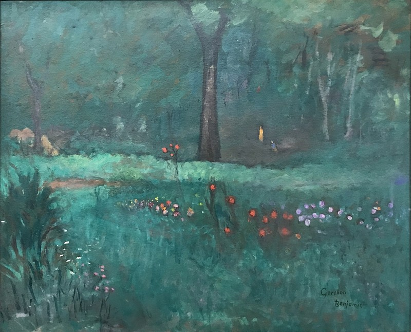 Gershon Benjamin ,   My Garden      oil on board ,  31 x 37 in. (78.7 x 94 cm)     GB1803020