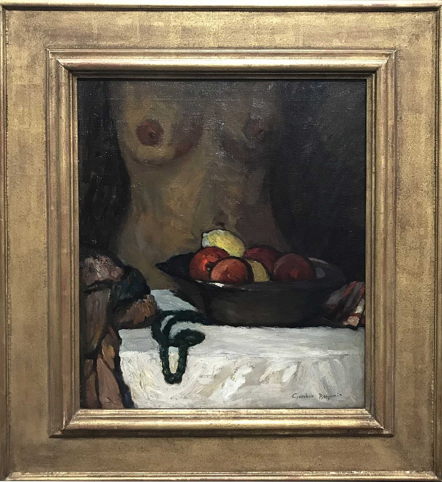 Gershon Benjamin ,   Bowl of Fruit with Nude  ,  1933 ca     oil on canvas ,  24 x 20 in. (61 x 50.8 cm)     GB1803018