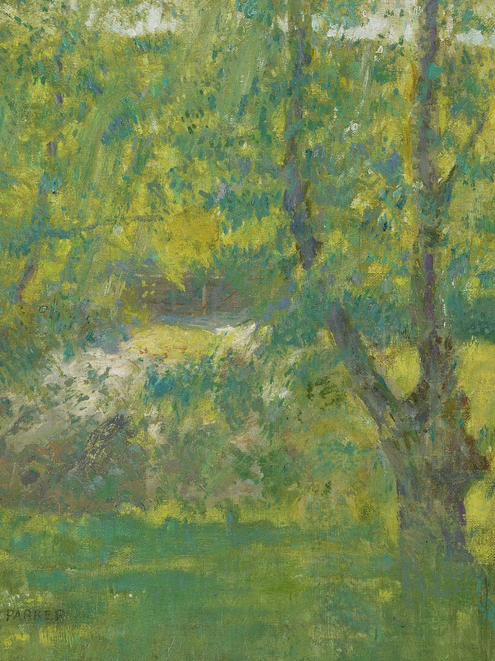Lawton S. Parker ,   Summer in Giverny      oil on canvas laid down on board ,  19 1/2 x 14 3/4 in. (49.5 x 37.5 cm)     LSP190401