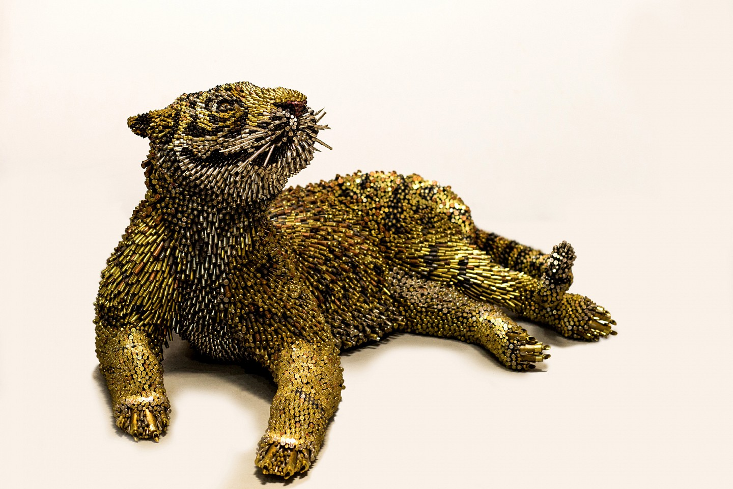 Federico Uribe ,   Tiger  ,  2016     Bullet Shells ,  34 x 79 x 47 in. (86.4 x 200.7 x 119.4 cm)     AGB1564