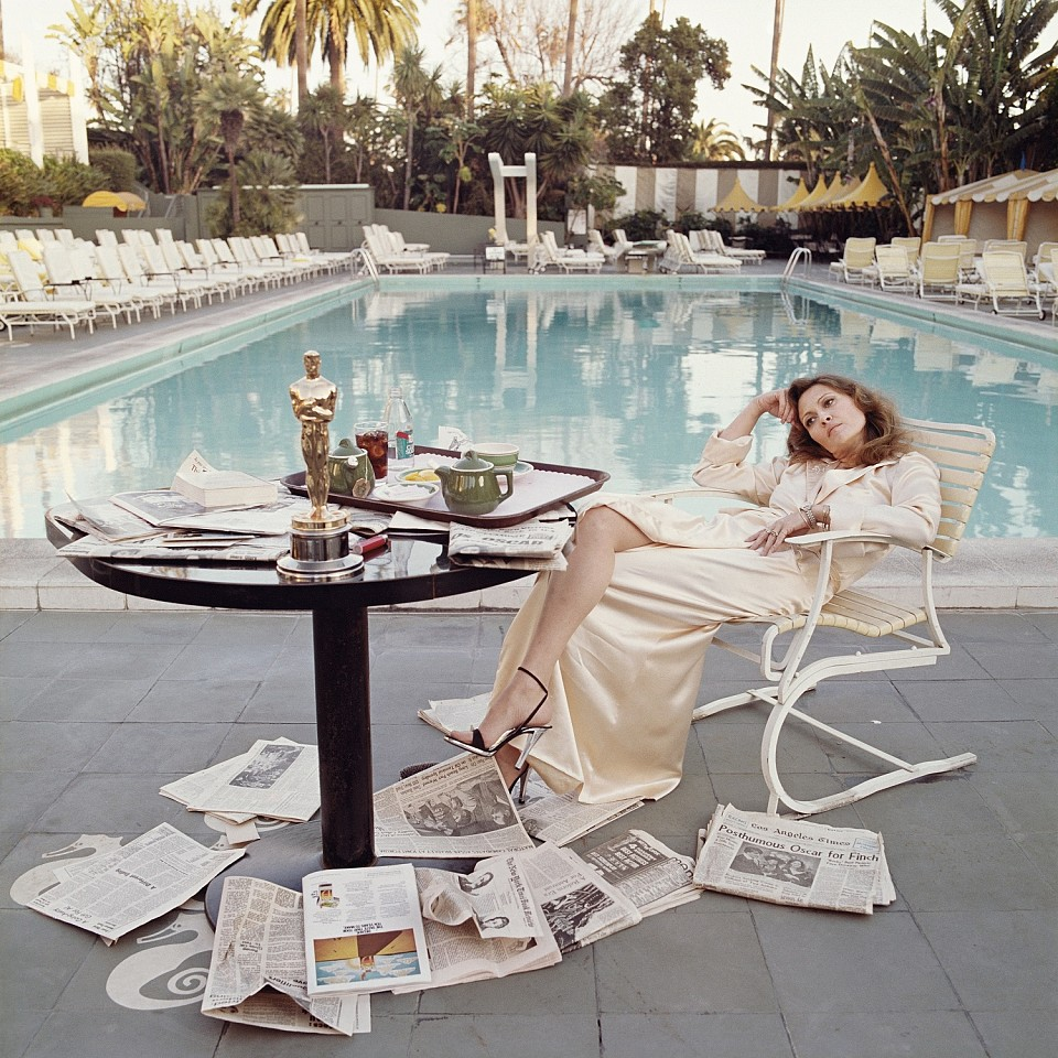 Terry O'Neill ,   Faye Dunaway, Beverly Hills Hotel  ,  1977     archival pigment print ,  36 x 36 in. (91.4 x 91.4 cm)     CSFD001