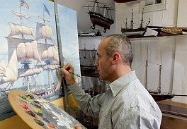 News & Events: Historic Single-Ship Victories Captured by Renowned Maritime Artist Maarten Platje, September  4, 2019 - Atlantic Highlands Herald