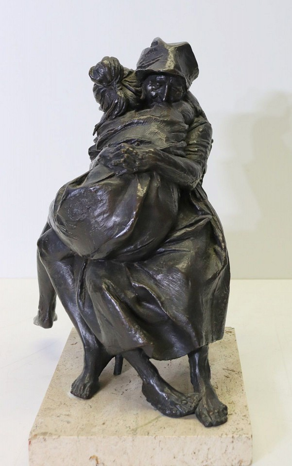 Bruno Lucchesi ,   Mother and Child  ,  1969     bronze ,  14 1/2 x 7 1/2 x 9 1/2 in. (36.8 x 19.1 x 24.1 cm)     BL191101
