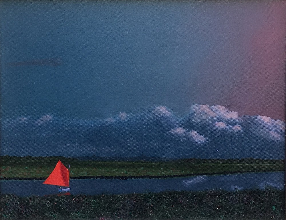 Robert Stark ,   Sailing the Creeks      oil on canvas ,  14 x 18 in.