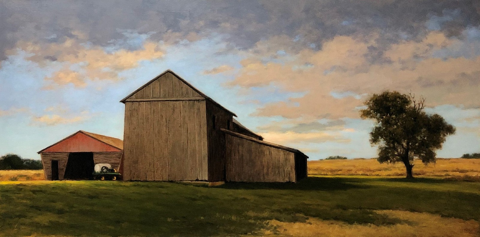 David Peikon ,   Janelia Barns  ,  2016     oil on linen ,  24 x 48 in. (61 x 121.9 cm)     DP200110