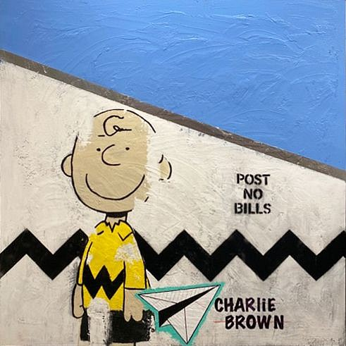 Guy Stanley Philoche ,   Charlie Brown  ,  2020     mixed media ,  48 x 48 in.